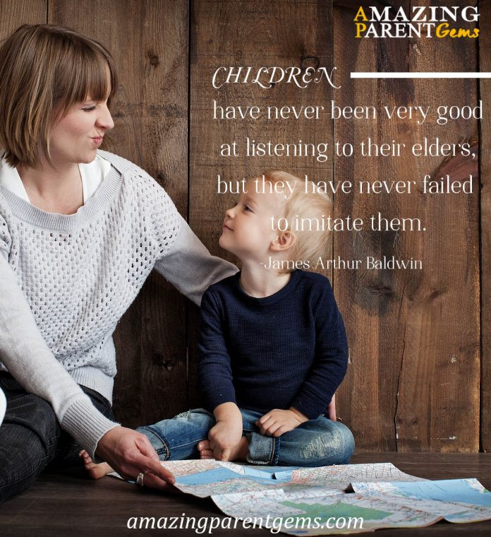 Children imitate parents