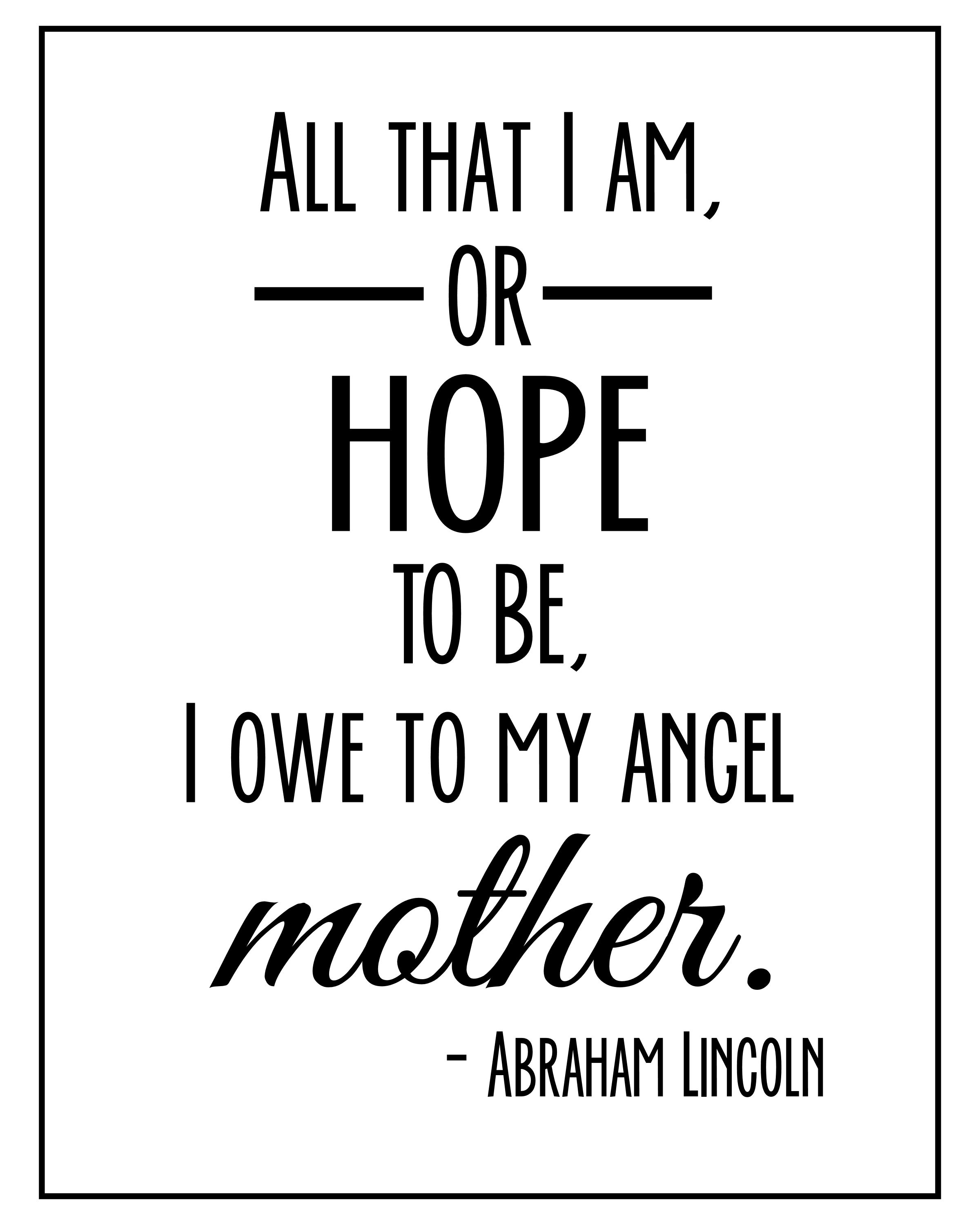 mother quote abraham lincoln