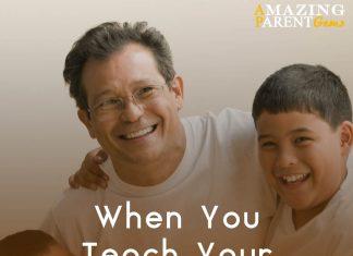When you teach your son, you teach your son's son.